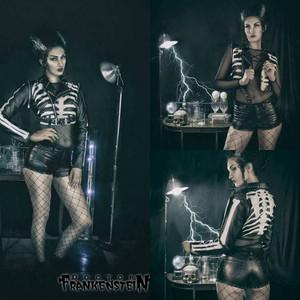 Dr. Frankenstein - Women's P-Leather Skeleton Bolero Jacket