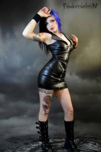 Dr. Frankenstein - Zipper and Studs Mini Dress