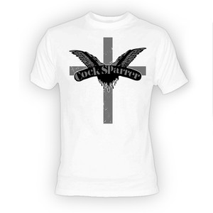 Cock Sparrer - Cross Logo White T-Shirt