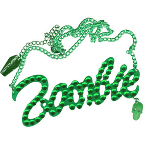 Kreepsville 666 - Green Diamonte Zombie Necklace