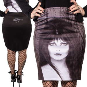 Kreepsville 666 - Elvira Glam Witch Pencil Skirt