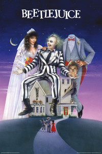 "Beetlejuice Movie Cover 24x36"" Poster"