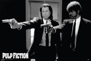 """Pulp Fiction - Vincent & Jules 36"""" x 24"""" Poster"""