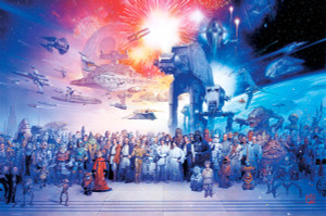 """Star Wars Episode 1 - 6 Characters 36"""" x 24"""" Poster"""
