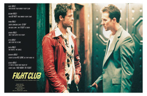 """Fight Club Rules 36"""" x 24"""" Poster"""