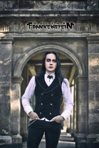 Dr. Frankenstein - Black Velvet Goth Vest