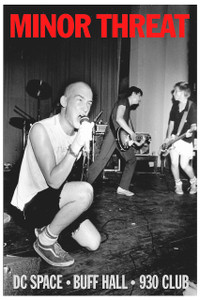 "Minor Threat - Buff Hall 12x18"" Poster"