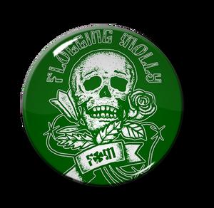 """Flogging Molly FM Skull 1.5"""" Pin"""