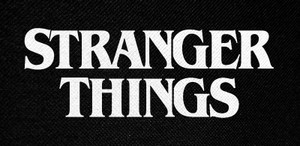 "Stranger Things Logo 5x2.5"" Printed Patch"
