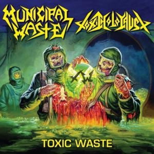 "Municipal Waste / Toxic Holocaust - Toxic Waste [Split] 4x4"" Color Patch"