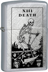 Death Tarot Card Chrome Lighter