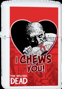 I Chews You Valentine's Day White Lighter
