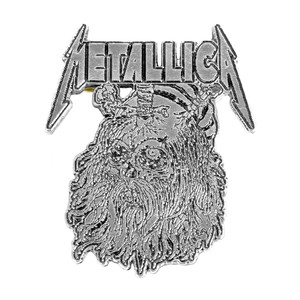 "Metallica - Pushead Beard Skull 2"" Metal Badge"
