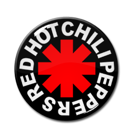 "Red Hot Chili Peppers Logo 1.5"" Pin"