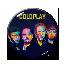"""Coldplay Band 1.5"""" Pin"""