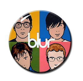 "Blur: The Best Of 1.5"" Pin"