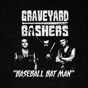"Graveyard Bashers - Baseball Bat Man 4x4"" Printed Patch"