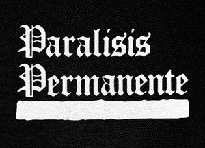 "Paralisis Permanente Logo 5x4"" Printed Patch"