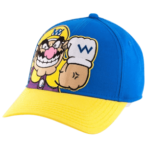 Wario Blue and Yellow Snapback Hat
