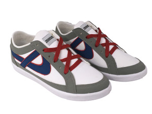 Panam - Urban White, Blue and Gray Low Top Unisex Sneaker