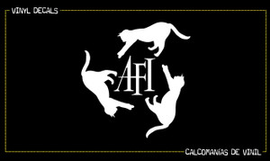 "AFI Cat Logo 5.5x5.25"" Vinyl Cut Sticker"