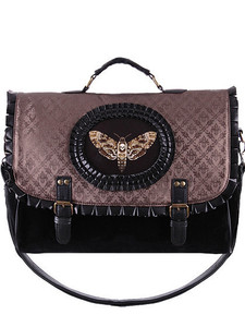 Restyle Clothing - Cameo Moth Brown Hand Bag