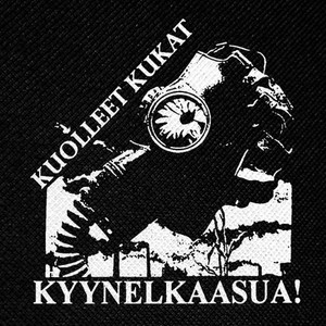 "Kuolleet Kukat - Kyynelkaasua 4x4"" Printed Patch"