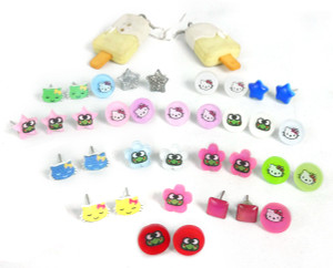 Necklaces and Accessories Lot - Hello Kitty, Keroppi and Shaped Earrings