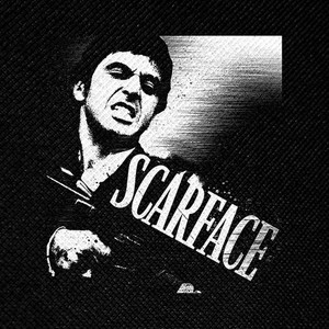 "Scarface - Tony Montana 4x4"" Printed Patch"
