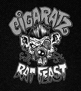 "Cigaratz - Rat Feast 4x4.5"" Printed Patch"