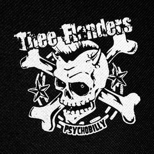 "Thee Flanders - Psychobilly 4x4"" Printed Patch"