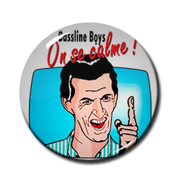 "Bussline Boys - On Se Calme! 1"" Pin"