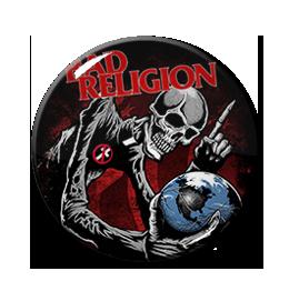"Bad Religion - Skeleton and Globe 1"" Pin"