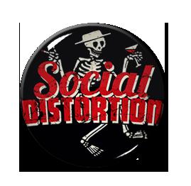"""Social Distortion Skelly 1"""" Pin"""