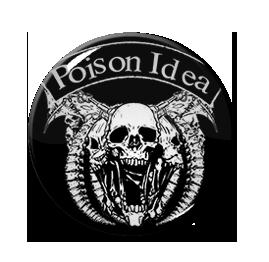 """Poison Idea - Skull 1"""" Pin"""
