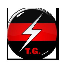 """Throbbing Gristle Logo 1.5"""" Pin"""