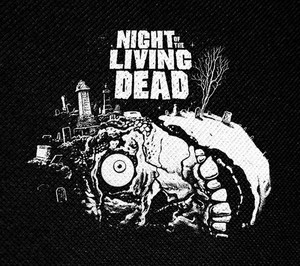 "Night of the Living Dead 4.5x4"" Printed Patch"