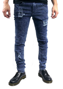 Antifashion - Blue Washed Ripped Skinny Jeans