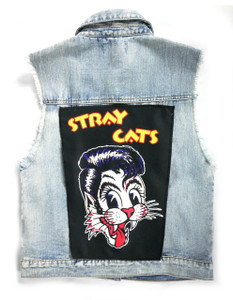 "Go Rocker - Stray Cats Logo 13.5"" x 10.5"" Color Backpatch"