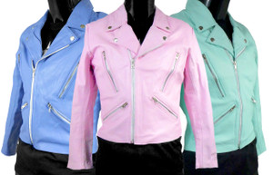 Solo Piel - Women's Rocker Leather Jacket