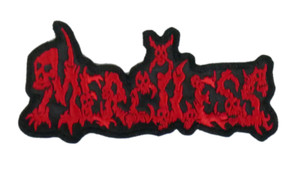 "Merciless Red Logo 5x2"" Embroidered Patch"