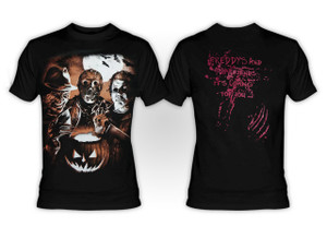 Freddy Krueger, Jason Voorhees and Michael Myers T-shirt