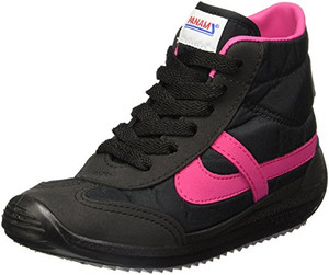 Panam - Black and Fucsia High Top Synthetic Unisex Sneaker