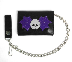 Winged Skull Black Wallet