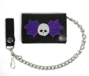 Winged Skull Black Wallet
