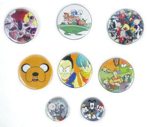 8 Piece Pin Lot - Dragon Ball Z, Animaniacs + More!
