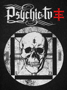Psychic TV - TV Skull Backpatch 12x15""