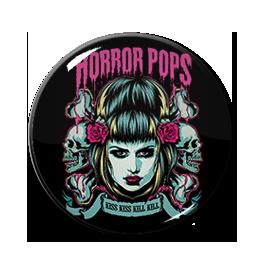 """Horror Pops - Kiss Kiss Kill Kill 1"""" Pin"""