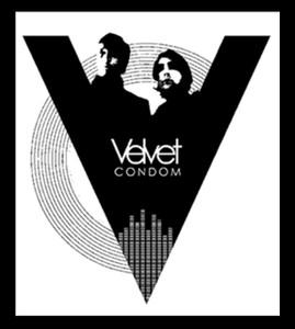 "Velvet Condom 4x4.25"" Printed Sticker"