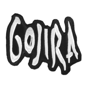 "Gojira Shaped Logo 5x3"" Embroidered Patch"